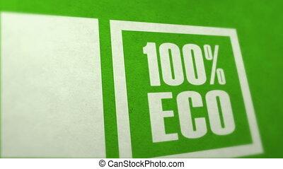 Ecology concept %u2013 100 percent ecolo