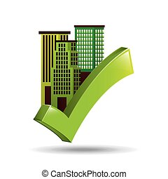 ecology concept with buildings city