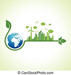Ecology concept with earth icon