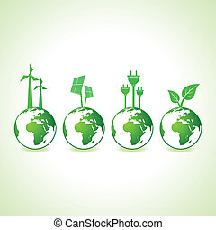 Ecology concept with earth