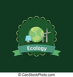 Ecology design concept - Ecology design with earth planet...