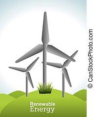 Ecology design. - Ecology design over landscape background,...