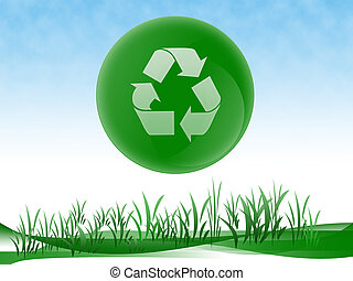Ecology Design - Green ecology design recycle able logo, go...