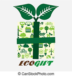 Ecology design over white background, vector illustration