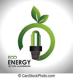 Ecology design over white backgroundvector illustration - ...