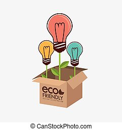 Ecology design, vector illustration.