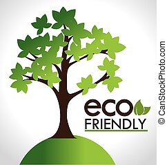 Ecology design, vector illustration. - Ecology design over...