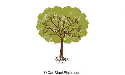 Ecology design with tree, Video Animation