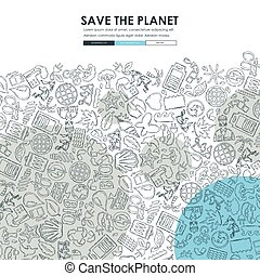 ecology Doodle Website Template Design