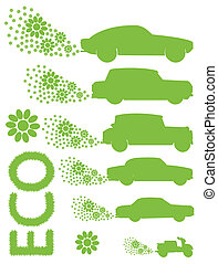 Ecology electrical car vector background