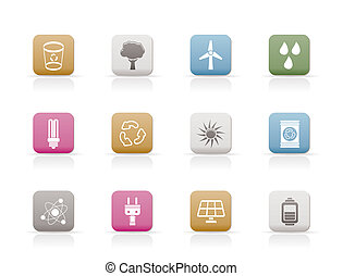 Ecology, energy and nature icons