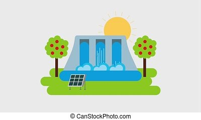 ecology energy renewable hydroelectric power station solar...