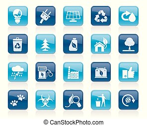 Ecology, Environment and nature icons 2 - vector icon set