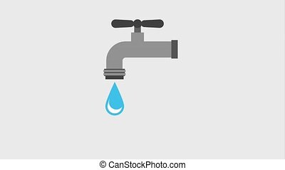 ecology environment conservation - faucet with drops water...