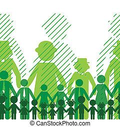Ecology family background. - Ecology icon, family...