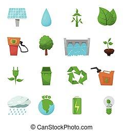 Ecology Flat Icon Set
