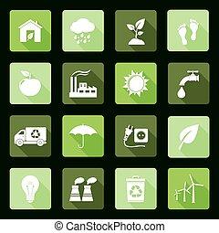 Ecology flat icons