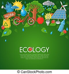 Ecology flat illustration