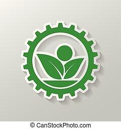ecology gear and leaf logo