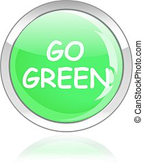 ecology glossy icon button