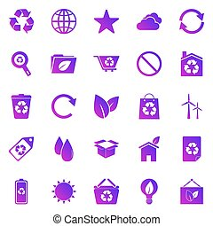 Ecology gradient icons on white background