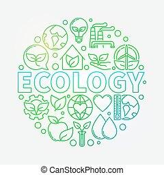 Ecology green illustration
