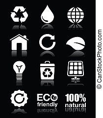 Ecology, green, recycling vector wh