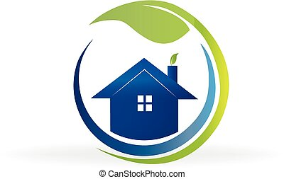 Ecology house real estate logo