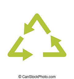 Ecology icon on white background for recycling, vector. -...