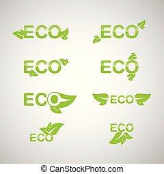 Ecology icon set. Eco-icons.
