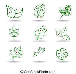 Ecology icon set. Eco-icons. vector