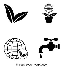 ecology icon set
