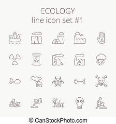Ecology icon set.