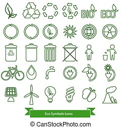 Ecology icons. - Ecology icons vector.