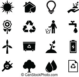 Ecology Icons set for your design