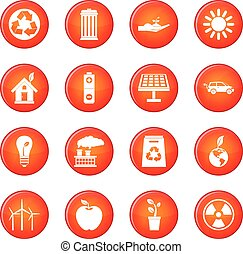 Ecology icons vector set