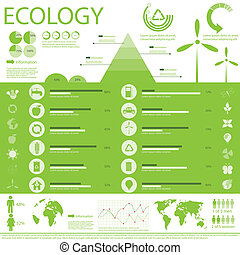 Ecology info graphic - architecture, arrow, buildings, ...