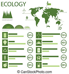 ecology info graphic - Green ecology info graphics...
