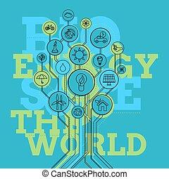 Ecology Infographic. Bio Energy