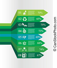 ecology infographic options banners