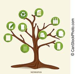 Ecology Infographics design elements. Vector illustration.