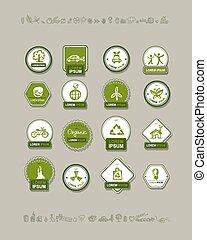 Ecology labels, set for your design