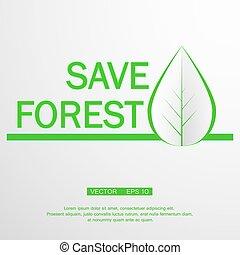 ecology logo, green design - growth vector illustration