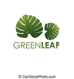 Ecology logo sign , green leaf design, growth leaves vector illustration.