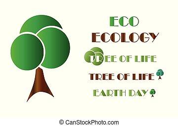 ecology logo - tree vector - earth day - tree of life - eco...