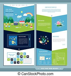 ecology one page website design template