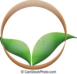 Ecology, organic icon .