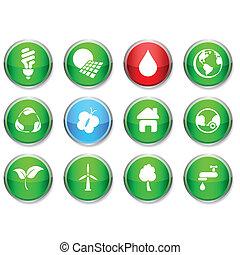 Ecology round icons.