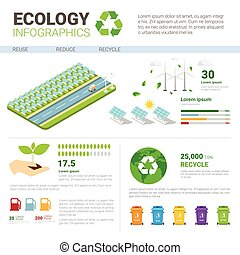 Ecology Rubbish Container For Sorting Waste Infographic Banner Recycle Garbage Concept