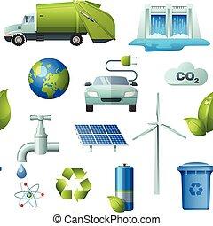 Ecology Seamless Elements Pattern